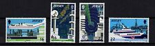 JERSEY, SCOTT # 452-455, SET OF 4 STAMPS AIRPORT & SEA TRANSPORT & COMMUNICATION