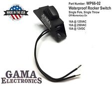 Waterproof Mini Rocker Switch, 10A Off-Momentary On P/N WP66-02