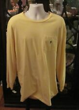 Polo Ralph Lauren Yellow Long Sleeved Pocket Shirt. Size LT. Made of Cotton
