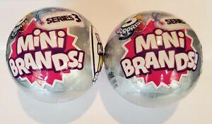 Zuru (5 surprise) mini brands series 3 grey ball pack lot 2 new nip sealed minis