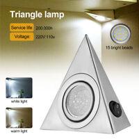 LED Hauptküche unterSchrank Schrank Dreieck Licht Kit Kaltes Weiß / Warmes Weiß