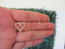 .50 CTW Diamond Necklace 18K Yellow Gold N78 sep