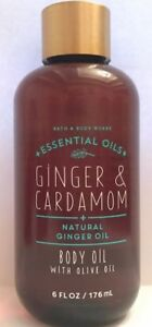 1 BATH & BODY WORKS GINGER & CARDAMOM BODY OIL OLIVE 6 OZ GINGER ESSENTIAL OILS