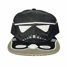 Kids Stormtrooper Black Hat Unisex Adjustable Snapback One Size Baseball Cap NEW
