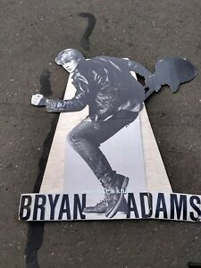 BRYAN ADAMS 1982 A & M 4X4 ' PROMO STANDEE CUTS LIKE KNIFE VG TEARS RARE HTF VTG