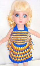 "Crochet Sundress Doll Outfit fits Tonner 10"" Patsy Ann Estelle Littlefee BJD BID"