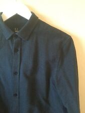 FRED PERRY RARE TWO TONE POLKA DOT LONG SLEEVED SHIRT PERFECT SIZE SMALL