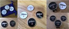 """1"""" Titleist Golf Ball Marker with integrated magnet : clips & marker available"""