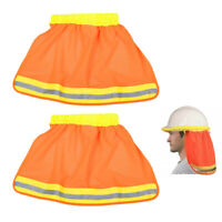 2pc NFPA 701 Neck Shade Hard Hat Mesh Sun Shield Flame Safety High Visibility