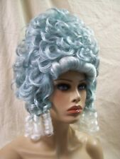 Victorian Ghost Wig Colonial Zombie Queen Baroness Renaissance Lady Madame Vamp