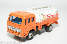 SHINSEI MINI POWER MERCEDES BENZ PATROL FUEL TRUCK SHELL NEAR MINT CONDITION