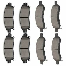 Front and Rear Ceramic Discs Brake Pads For 2008 2009 10 - 16 2017 Buick Enclave
