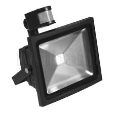 30W COB Outdoor LED Flood Light with Motion Sensor 6000K Daylight IP65 Black