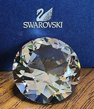 New ListingSwarovski Crystal Medium 3.5 Ounce Chaton Paperweight/ Figurine, Box, Logo, Coa