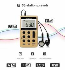 Retekess V112 Pocket FM/AM Radio Digital Tuning Mini Receiver Earphone for Sport