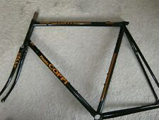 FAUSTO COPPI, BLACK, ENGRAVED STEEL ROAD FRAME SET, 59/58cm , NOS/NEW