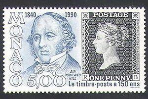 Monaco 1990 Rowland Hill/Penny Black/Stamp-on-Stamp/Postal History 1v (n34348)
