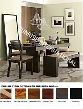 Western Style Wooden Wood Dining table with 4 Chair & 1 Bench set (6 pc set)