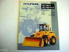 Hyundai HL740-3 & HL740TM-3 Wheel Loader Brochure