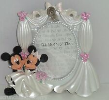 Disney Mickey Minnie Mouse Wedding Photo Frame Picture Theme Parks New