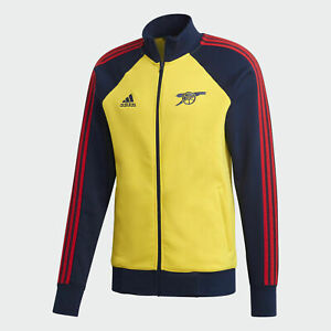 Adidas Arsenal Icons Mens Track Jacket Yellow Collegiate Navy Size S FQ6925