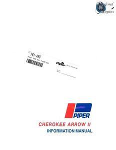New 1972-73 Piper PA28R-200 Cherokee Arrow II Pilot Information Book pn 761-493