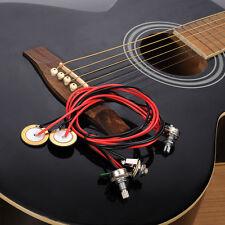 Universal Dual Piezo Pickup Jack With Volume Tone Control for Guitar Ukulele