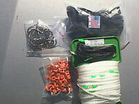 230 ft Beaded  trot-line; @ 4/' spacing beaded end to end; 50 clips drops hooks