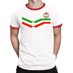 IRAN World Cup Mens Organic Cotton T-Shirt FOOTBALL New Style Retro Strip