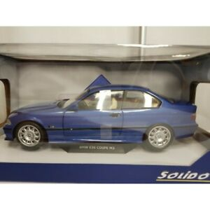 BMW M3 E36 COUPE BLEUE SOLIDO 1/18 BOITE NEUVE