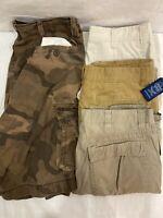 Lot Of 4 Mens Cargo Chino Camo Shorts Wrangler St Johns Bay Arizona Size 36