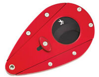 XiKAR Xi1 100RD Cigar Cutter Double Blade Cuts 54 - 58 Ring Red Black Blades
