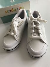 Nib Boys Toddler Stride Rite Match Play Crest Navy White Shoes Sneakers 9.5