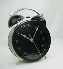 Retro-Black and Chrome Twin Bell Alarm Clock
