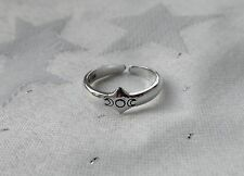 TRIPLE MOON GODDESS TOE RING WICCA PAGAN 925 STERLING SILVER