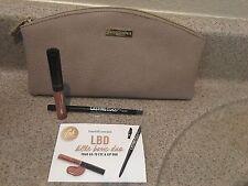 Bareminerals Little Basic Duo Rule Breaker Gloss & Black Eyeliner & Beige Bag