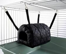Cuddle Up Igloo Hammock for Ferret Chinchilla Rat Bed Toy House Quilted Black