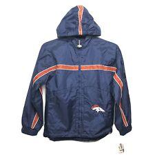 NFL Denver Broncos Football Windbreaker Jacket Youth Large 16/18
