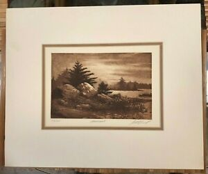 """LARGE SCOTT FITZGERALD """"MOONLIGHT"""" LIMITED EDITION ETCHING 103/125"""