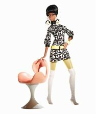 Mattel 2008~Barbie Collector~Pivotal Mod Pop Life Christie w/ Chair Giftset~Nrfb
