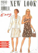 New Look 6832 Misses Dress & Jacket Sewing Pattern Size 6-16