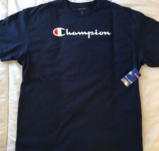 Champion Men's Navy Blue Short Sleeve Shirt Super Big C Logo NEW WITH TAGS 3XL