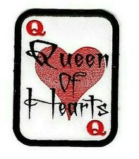 QUEEN of HEARTS iron-on PATCH Embroidered Naked Poker Playing Card Applique