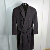 J.G. HOOK Long Wool Coat Overcoat Mens Size M 40 Purple belted