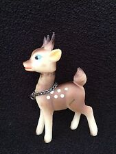 """VTG MCM Rubber BABY Rudolph Reindeer Heads Turn  Spotted Christmas Japan 3.5"""""""