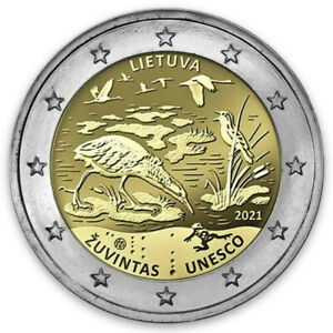 Lithuania 2 euro coin 2021 Žuvintas Biosphere Reserve UNC From Bank Roll