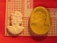Woman Cameo Silicone Mold A802 For Fondant Chocolate Resin Clay Candy Soap