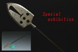 Japan Antique big long arrowhead iron Bow yoroi katana archery samurai Busho Edo