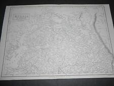 1860 LARGE ANTIQUE MAP RUSSIA IN EUROPE BY A&C. BLACK