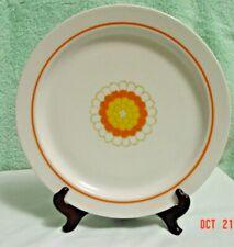 "Georges Briard Designed Florette 10"" Dinner Plate Orange Yellow Flower"